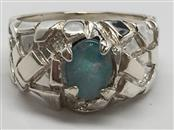 GENT'S NUGGET STYLE OPAL SILVER RING